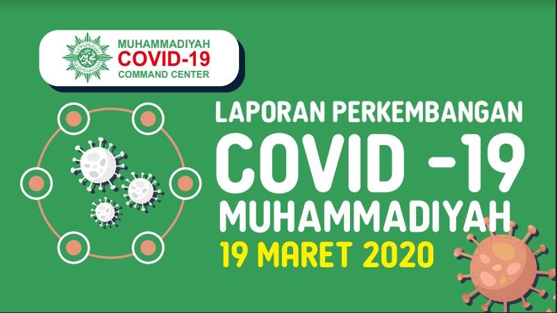 Laporan Perkembangan Covid-19 Muhammadiyah per 19 Maret 2020