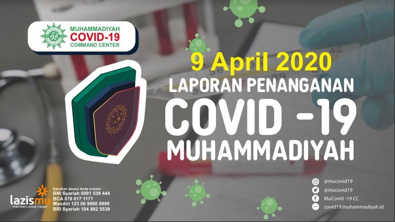 Laporan Penanganan Covid-19 Muhammadiyah per 9 April 2020