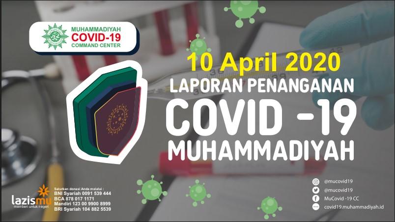 Laporan Penanganan Covid-19 Muhammadiyah per 10 April 2020