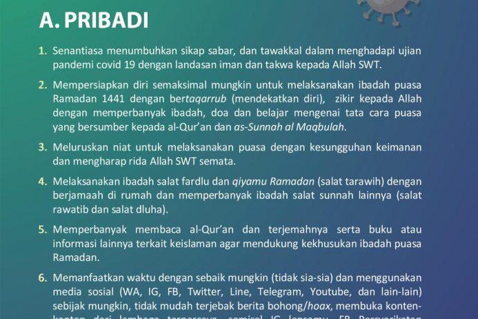 Panduan Ramadan di Tengah Wabah Covid 19