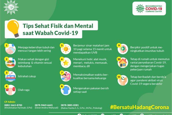 Tips Sehat Fisik dan Mental saat Wabah Covid-19
