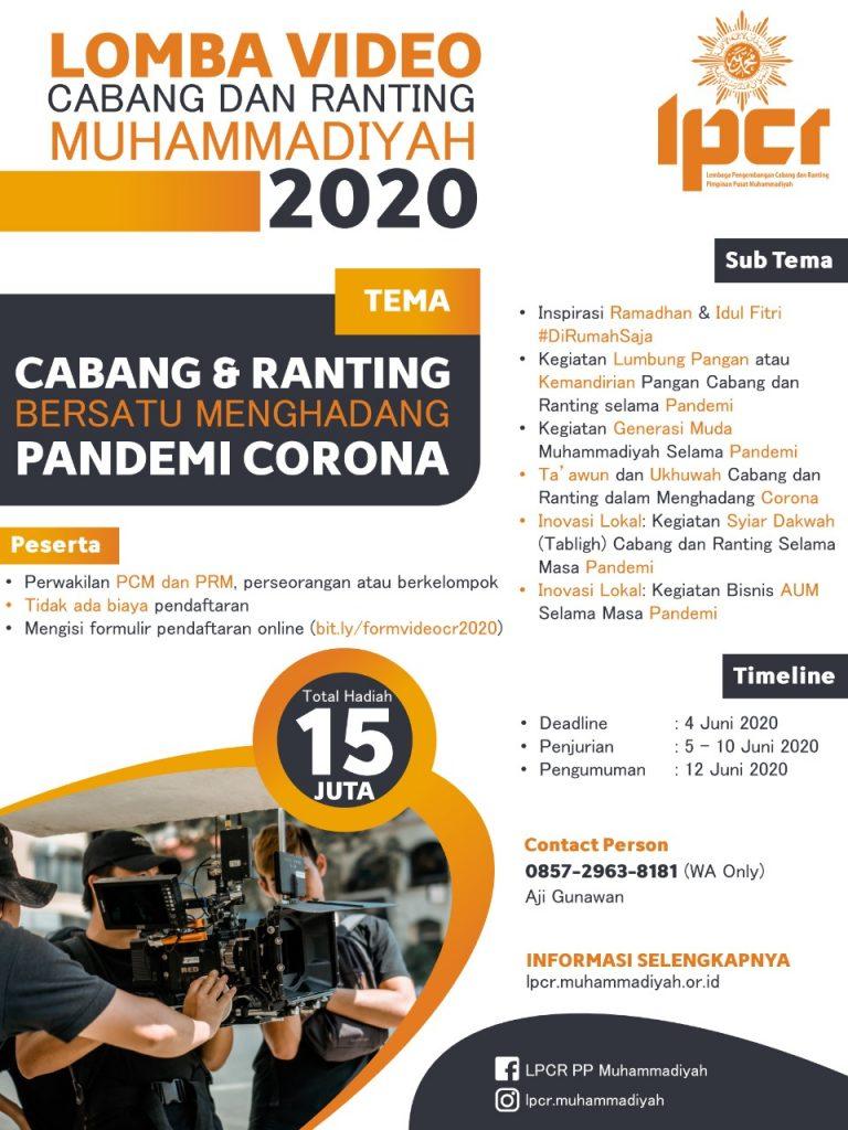 Lomba Cabang dan Ranting Muhammadiyah 2020 – LPCR PP Muhammadiyah