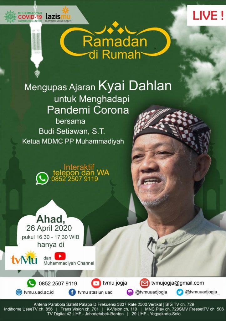 (VIDEO) #RamadanDiRumah   Mengupas Ajaran Kyai Dahlan untuk Menghadapi Pandemi Corona   Budi Setiawan