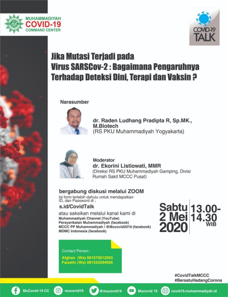 Spesialis Mikrobiologi Klinik RS Muhammadiyah : Mutasi Virus Corona Belum Berefek Pada Deteksi dan Terapi Pasien