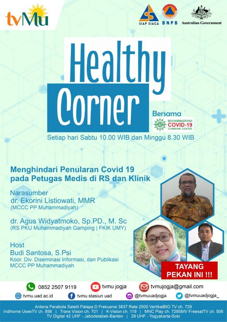 Healthy Corner – Menghindari Penularan Covid-19 pada Petugas Medis di RS dan Klinik