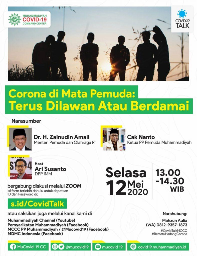 (VIDEO) Covid-19 Talk Part 16 : Corona di Mata Pemuda: Terus Dilawan atau Berdamai?