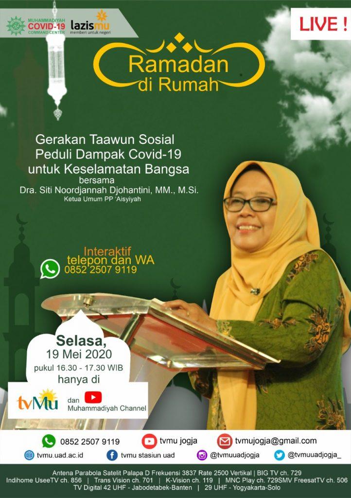 (VIDEO) #RamadandiRumah | Gerakan Taawun Sosial Peduli Dampak Covid-19 untuk Keselamatan Bangsa | Siti Noordjannah