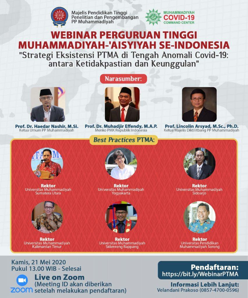 Webminar PTMA se-Indonesia | Strategi Eksistensi PTMA di Tengah Anomali Covid-19: antara Ketidakpastian dan Keunggulan