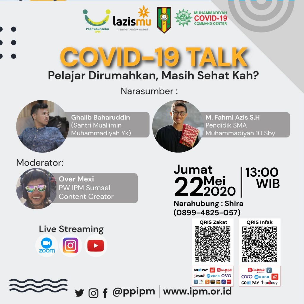 (VIDEO) Covid-19 Talk PP IPM feat LAZISMU & MCCC Part 2 – Pelajar Dirumahkan, Masih Sehatkah?