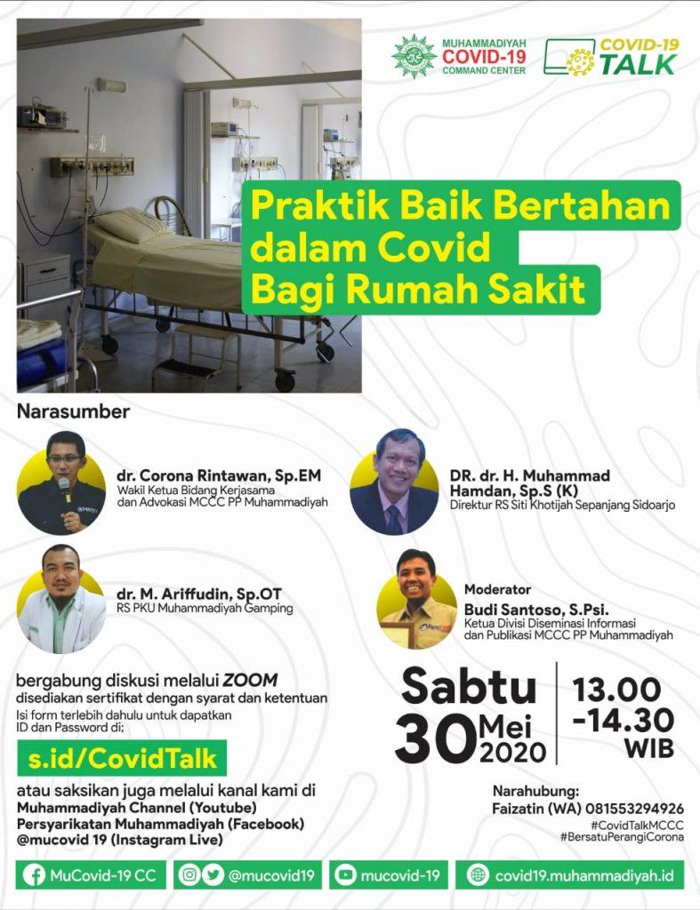 (VIDEO) Covid-19 Talk Part 21 : Praktik Baik Bertahan dalam Covid bagi Rumah Sakit