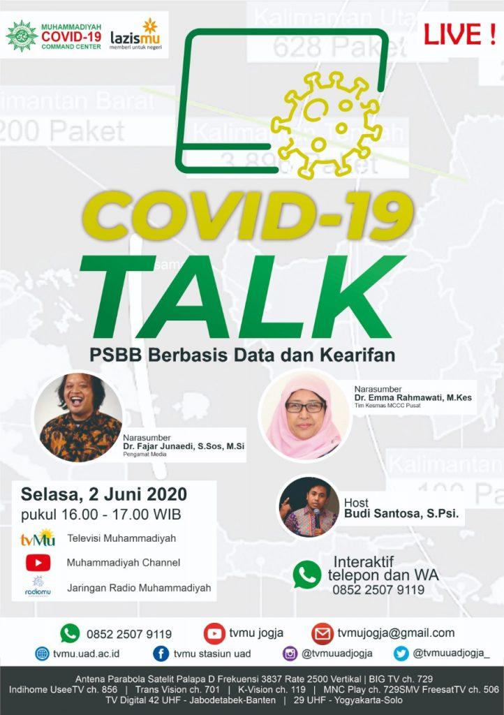 (VIDEO) Covid-19 Talk Part 23 : PSBB berbasis Data dan Kearifan