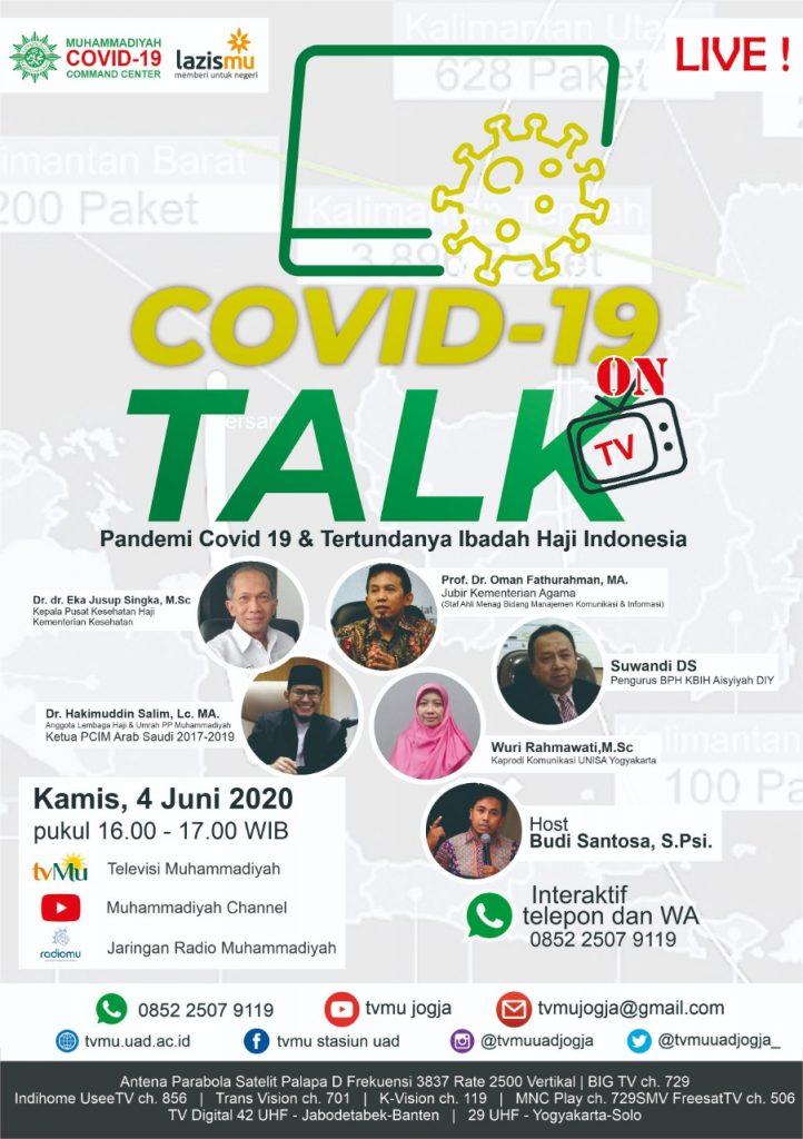 (VIDEO) Covid-19 Talk Part 26 : Pandemi Covid-19 & Tertundanya Ibadah Haji Indonesia