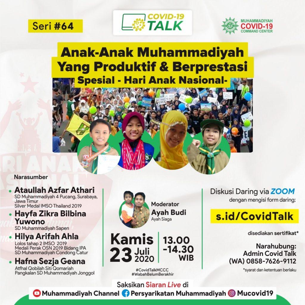 (VIDEO) Covid-19 Talk Part 93 : Anak-Anak Muhammadiyah yang Produktif dan Berprestasi