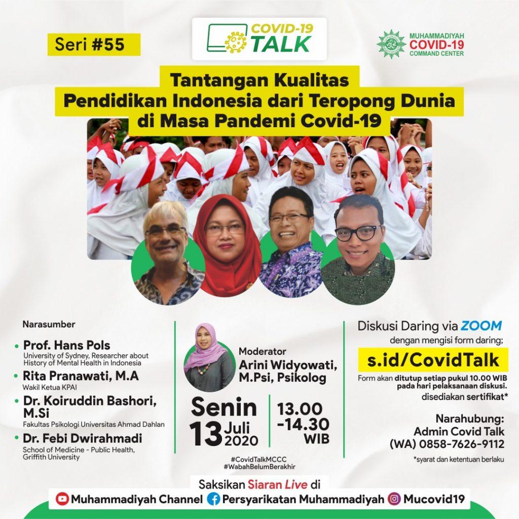 (MATERI) Tantangan Kualitas Pendidikan Indonesia dari Teropong Dunia di Masa Pandemi Covid-19