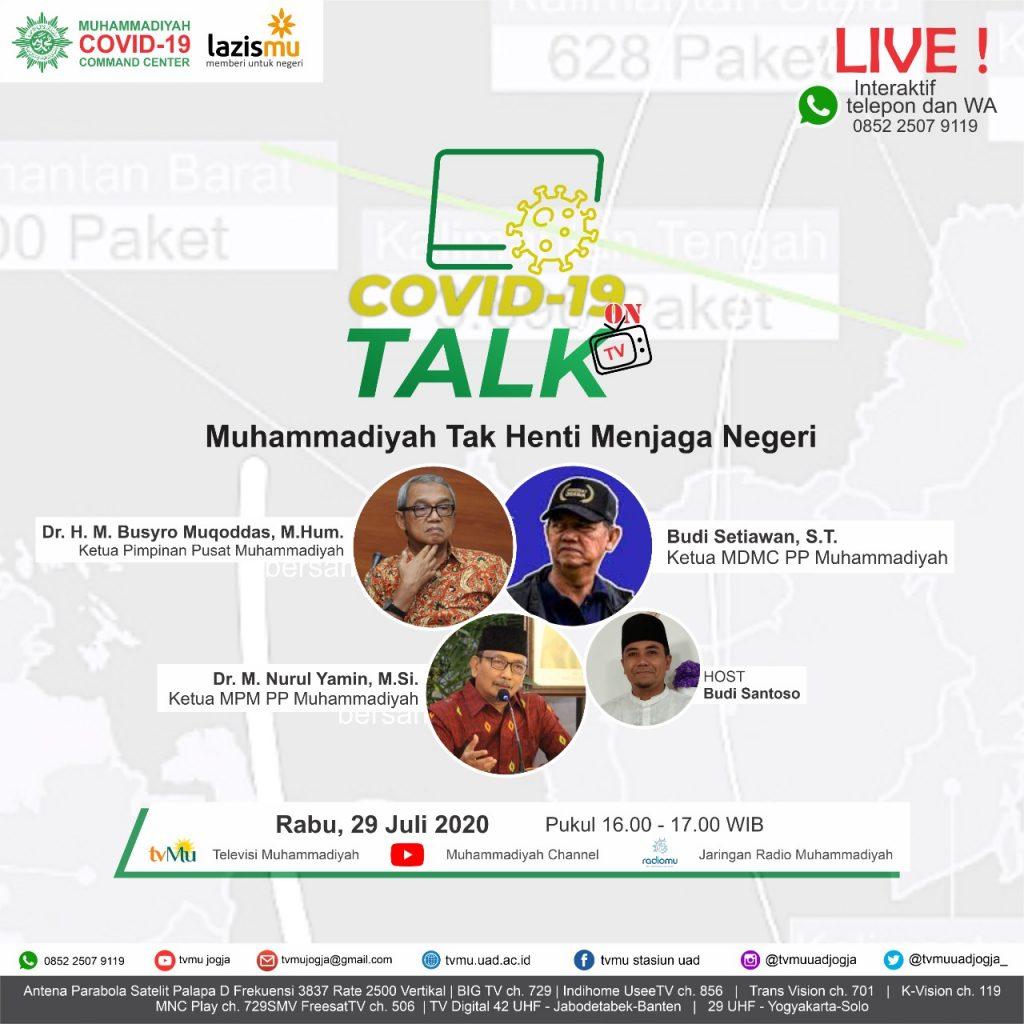 (VIDEO) Covid-19 Talk Part 101 : Muhammadiyah Tak Henti Menjaga Negeri