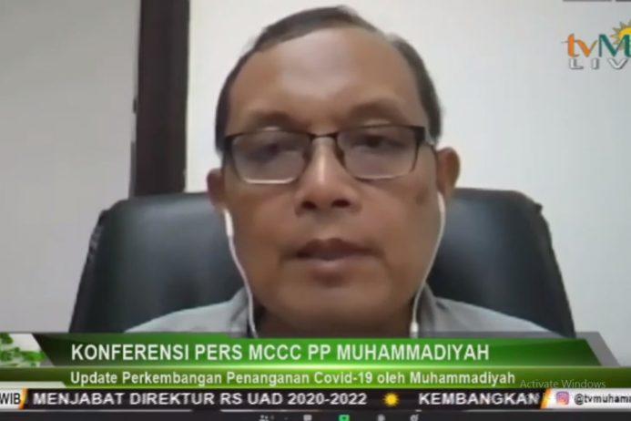 Ketua MCCC PP Muhammadiyah : Wabah Belum Berakhir, Lindungi Tenaga Kesehatan