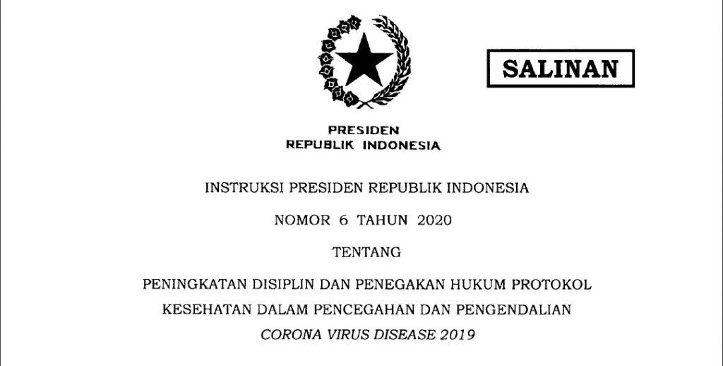 Instruksi Presiden RI No. 6 Tahun 2020