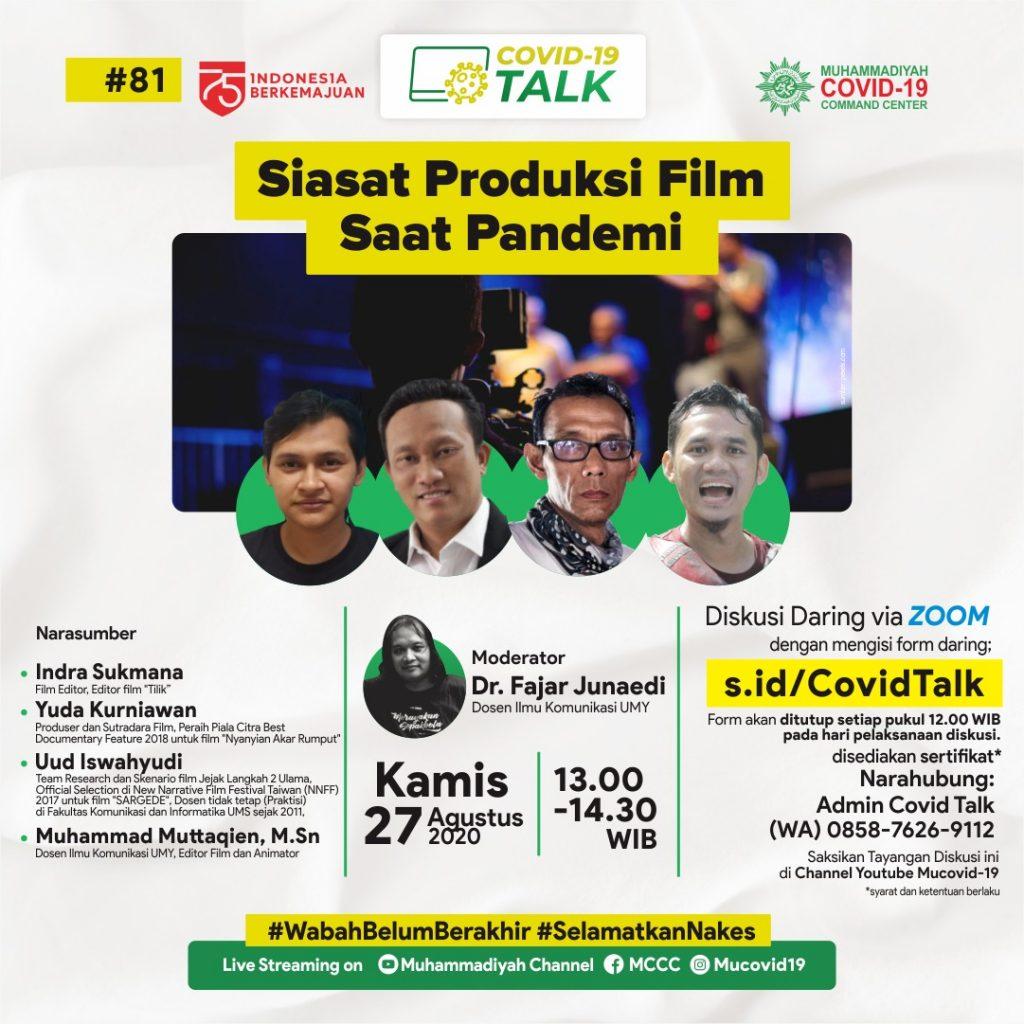 (VIDEO) Covid-19 Talk Part 125 : Siasat Produksi Film Saat Pandemi