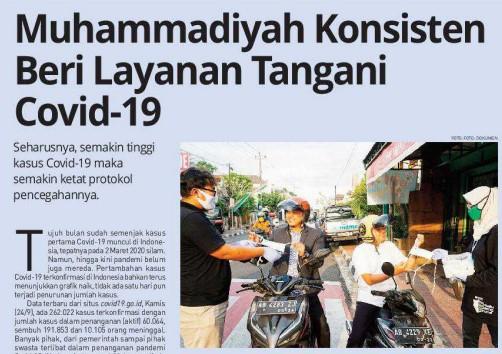 Muhammadiyah Konsisten Beri Layanan Tangani Covid-19