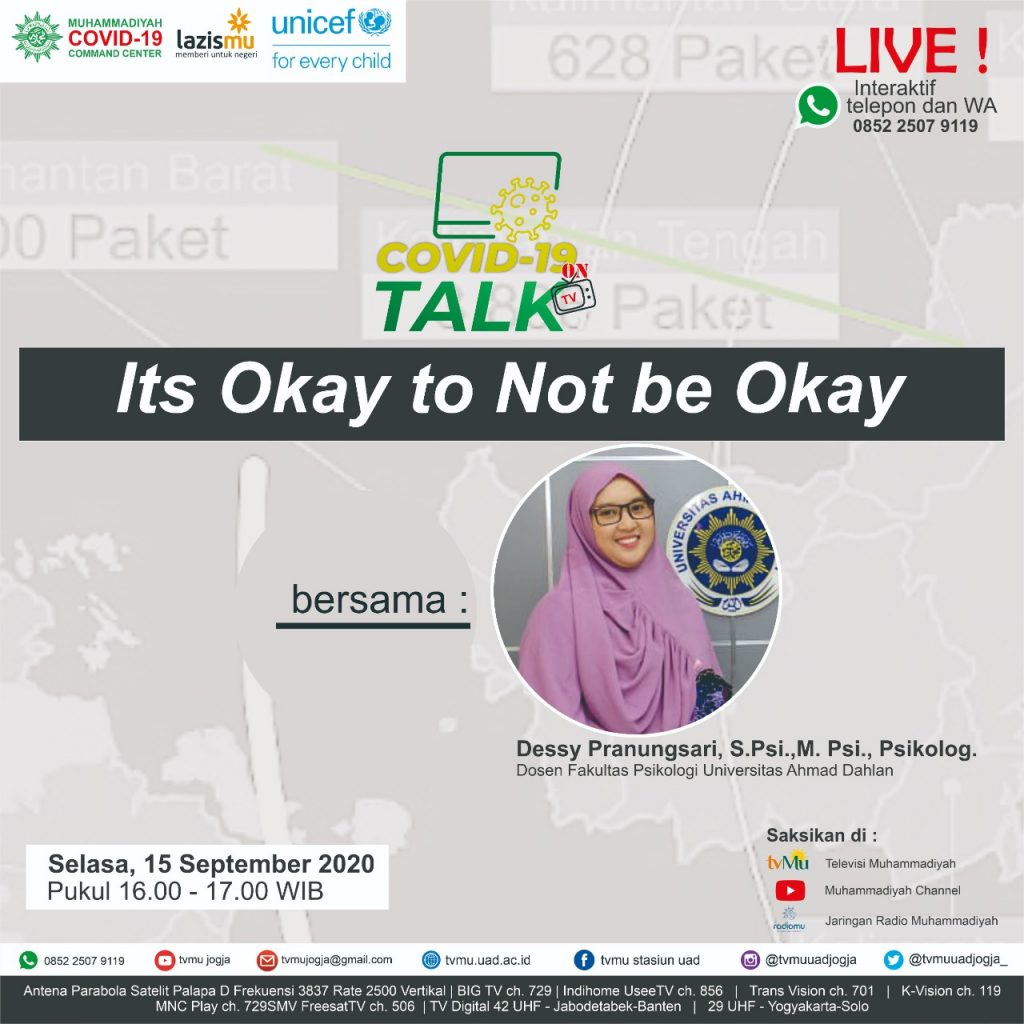 (VIDEO) Covid-19 Talk Part 137 : It's Okay to Not Be Okay