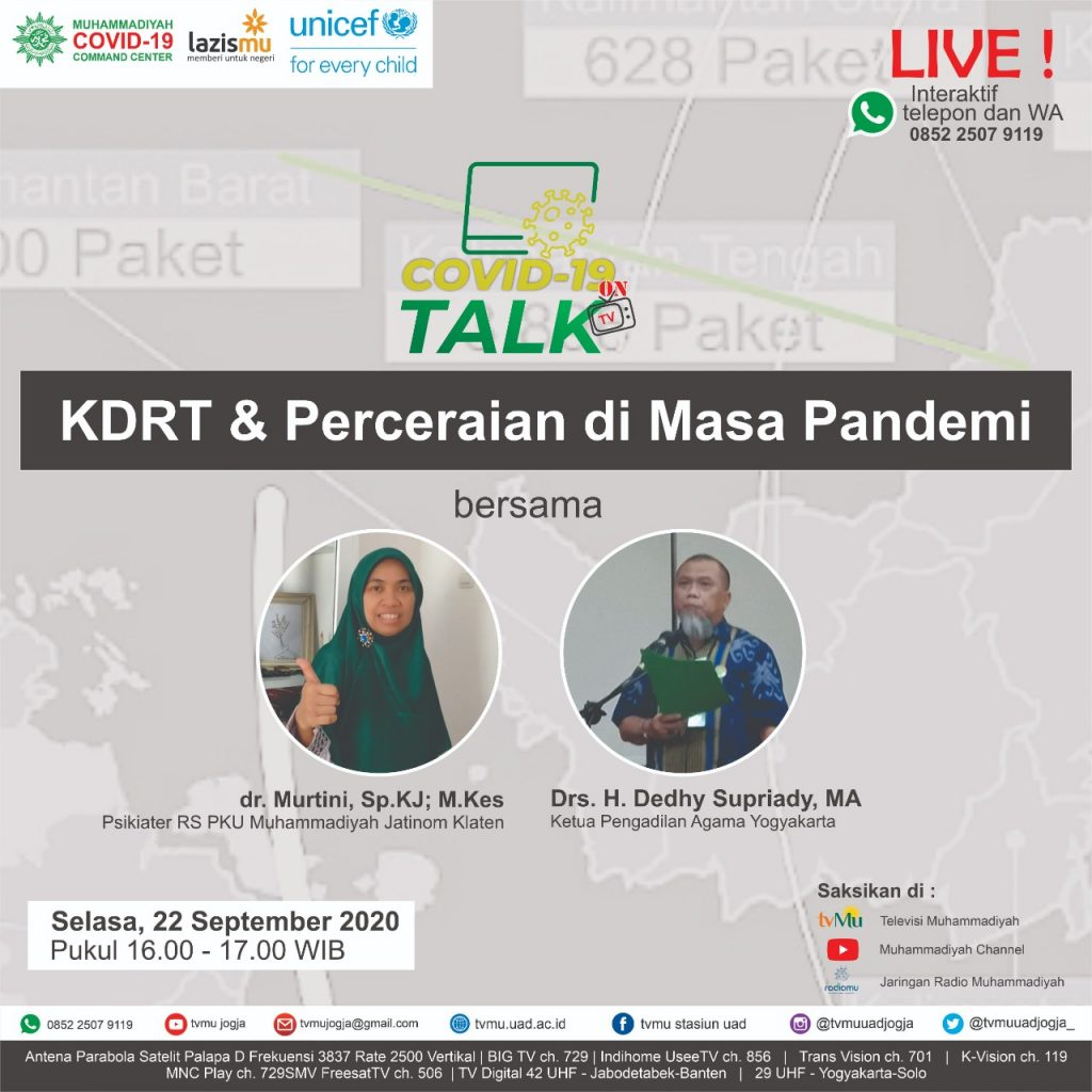 (VIDEO) Covid-19 Talk Part 141 : KDRT dan Perceraian di Masa Pandemi