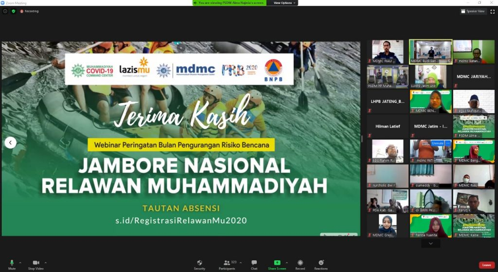 MDMC Gelar Jambore Relawan Muhammadiyah Secara Online