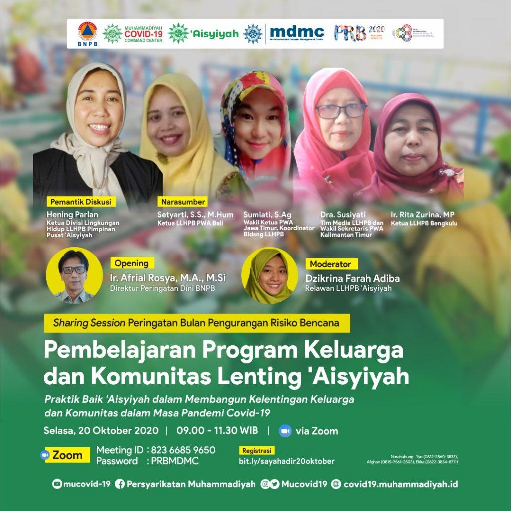 (VIDEO) Covid-19 Talk Webinar : Pembelajaran Program Keluarga dan Komunitas Lenting 'Aisyiyah