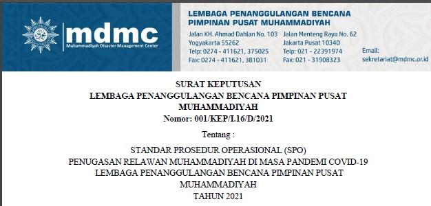 SOP Penugasan Relawan Muhammadiyah di Masa Pandemi Covid-19