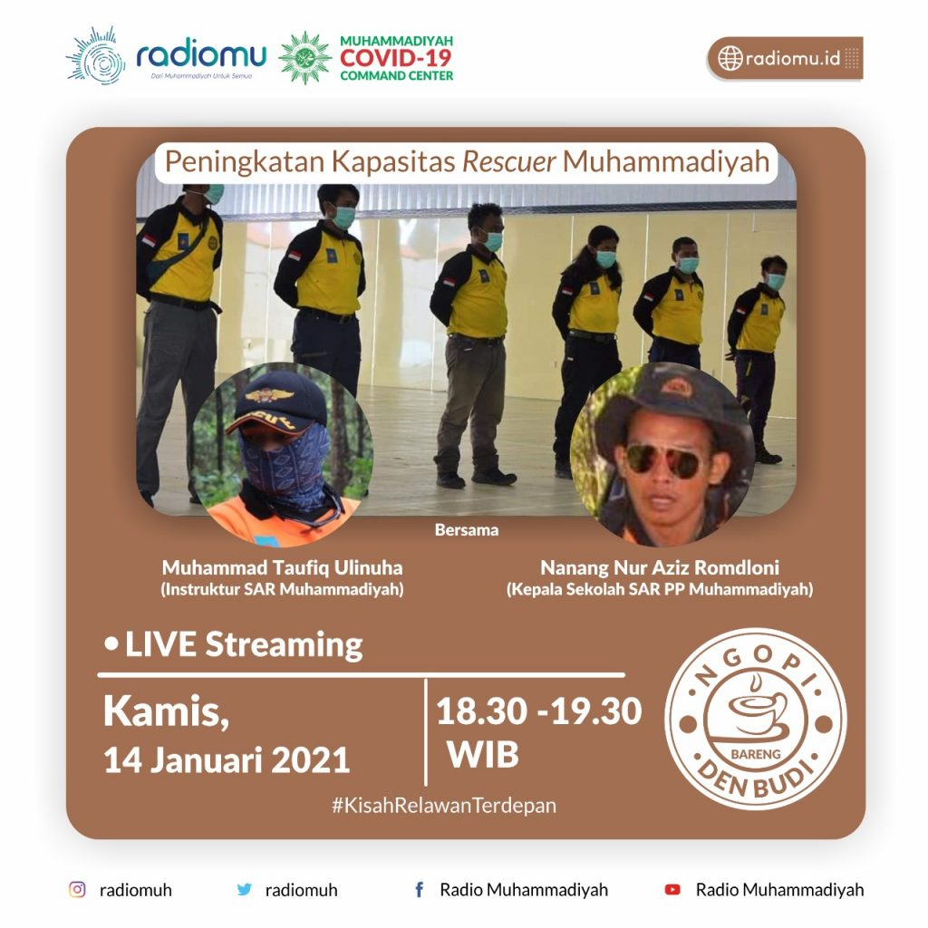 (VIDEO) #NgopiBarengDenBudi Part 73 – Peningkatan Kapasitas Rescuer Muhammadiyah