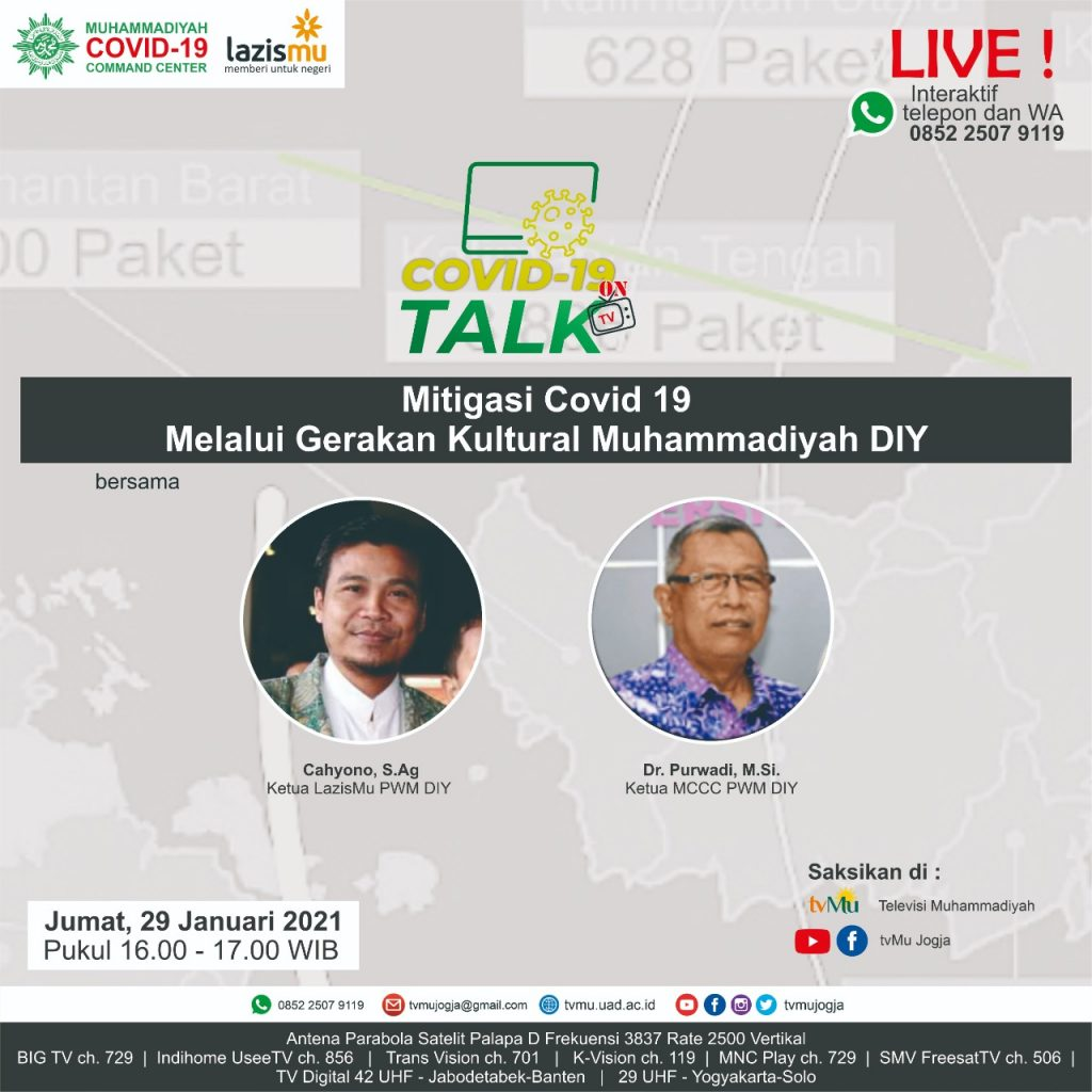 (VIDEO) Covid-19 Talk Part 193 : Mitigasi Covid-19 melalui Gerakan Kultural Muhammadiyah DIY
