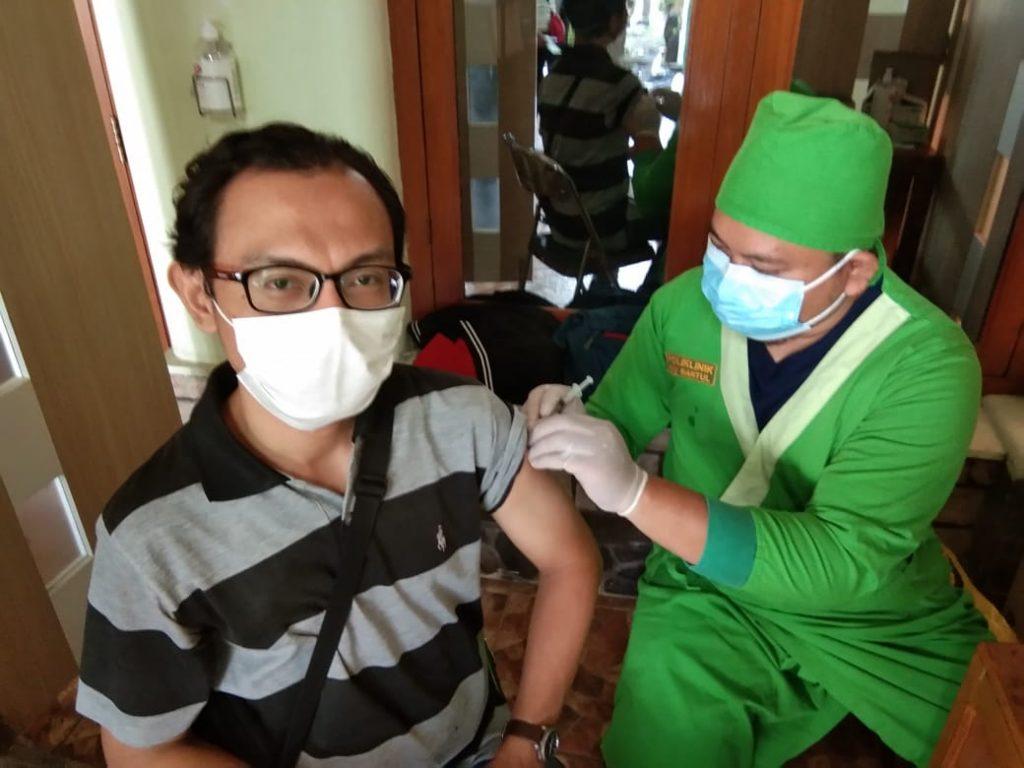 15 Lembaga Kemanusian FPRB DIY Ikuti Vaksinasi di RS PKU Muhammadiyah Bantul