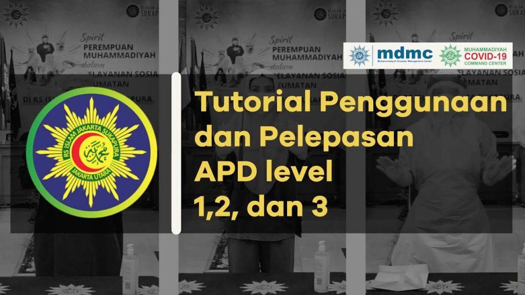(VIDEO) Tutorial Penggunaan dan Pelepasan APD Level 1, 2, dan 3