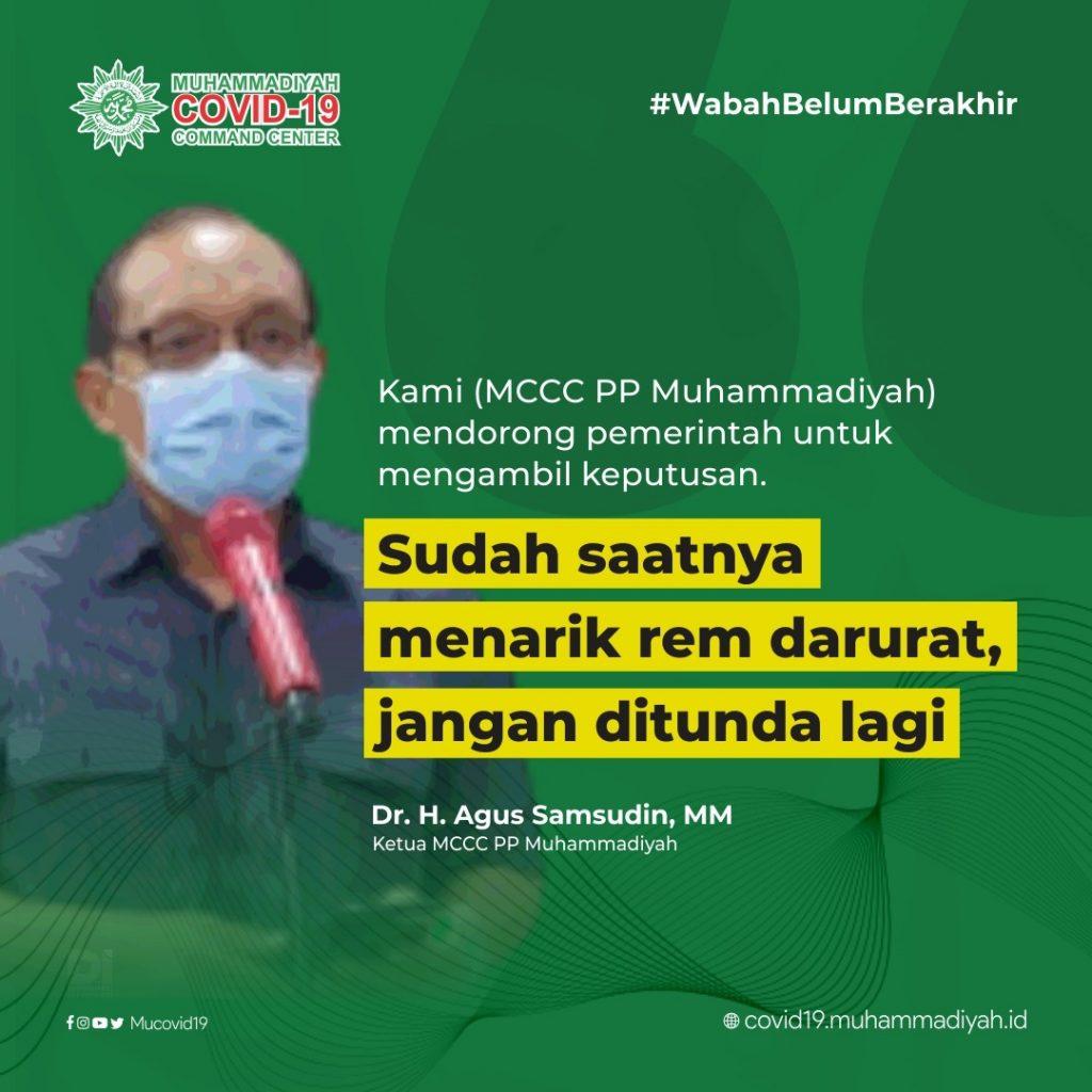 Muhammadiyah Minta Presiden Untuk Lockdown Jawa 3 Pekan