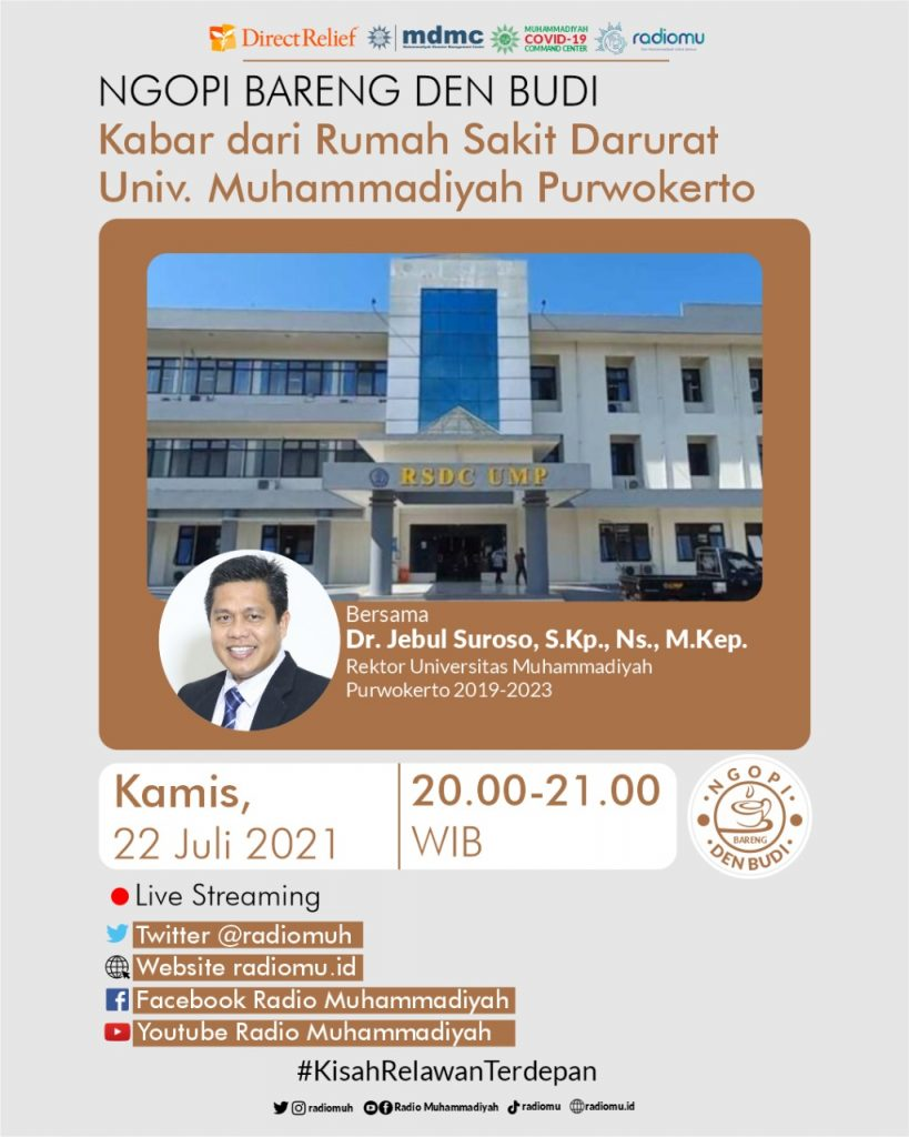 (VIDEO) #NgopiBarengDenBudi – Kabar dari Rumah Sakit Darurat Universitas Muhammadiyah Purwokerto