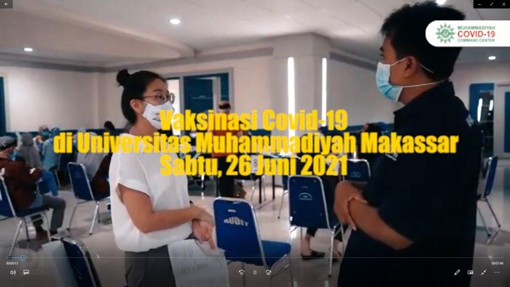 Vaksinasi Lintas Umat di Universitas Muhammadiyah Makassar
