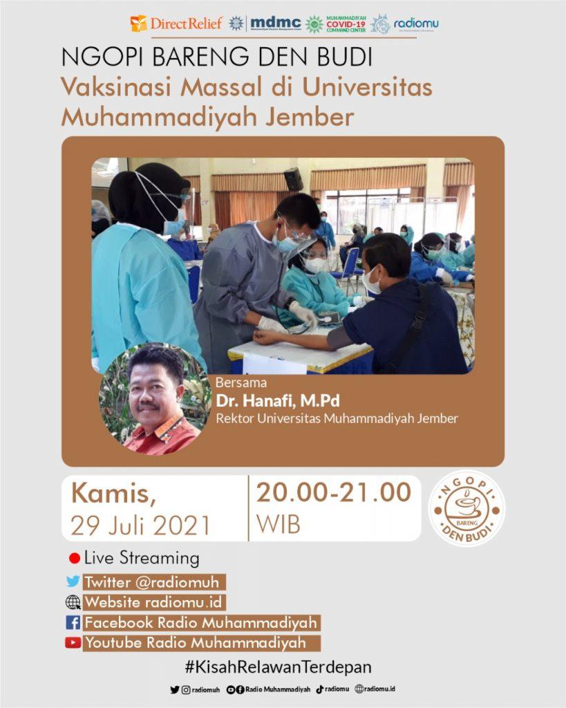 (VIDEO) #NgopiBarengDenBudi – Vaksinasi Massal di Universitas Muhammadiyah Jember