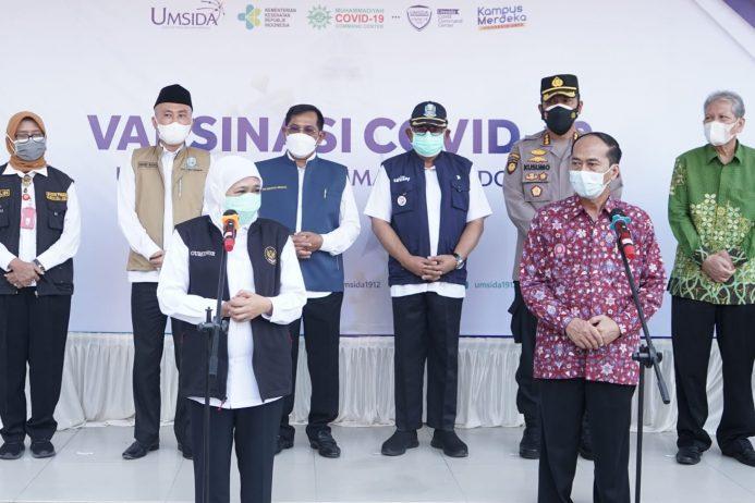 Gubernur Jatim: Kolaborasi Muhammadiyah dan Pemerintah Percepat program Vaksinasi yang Efektif