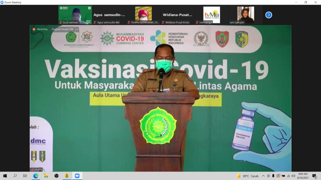 Hanya Satu Jam, 1500 Peserta Daftar Vaksinasi Lintas Agama MCCC di Palangkaraya
