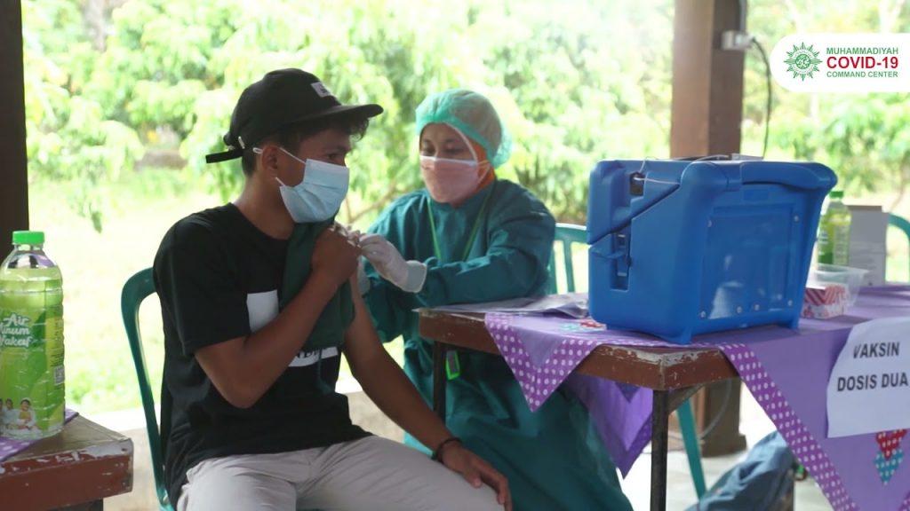 Vaksinasi Kalibawang, MCCC Bersama dengan MDMC, LLHPB Aisyiyah, Lazismu, AmbulanMU
